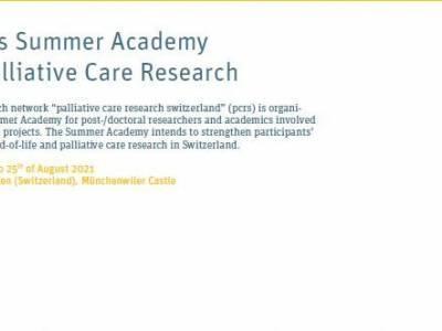 Académie suisse d'été en recherche sur les soins palliatifs