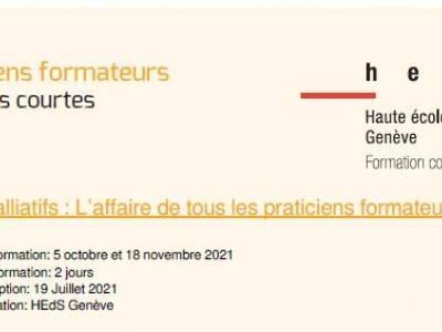 Formation HEDS - Soins palliatifs : L'affaire de tous les praticiens formateurs - 2021